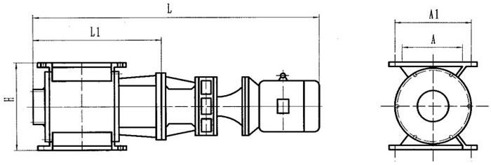 刚性叶轮给料机结构图
