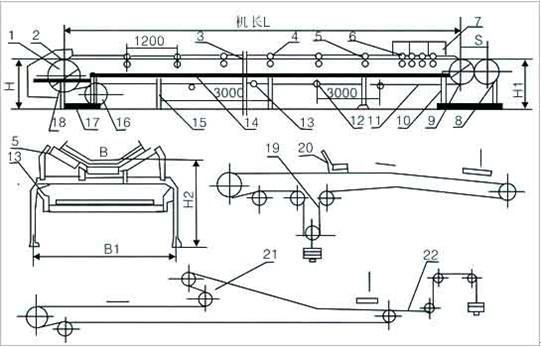 皮带输送机外形图