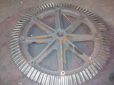 圆盘给料机的构件齿轮